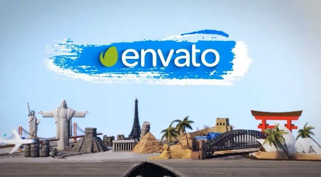 Travel Book After Effects Logo Reveal Template