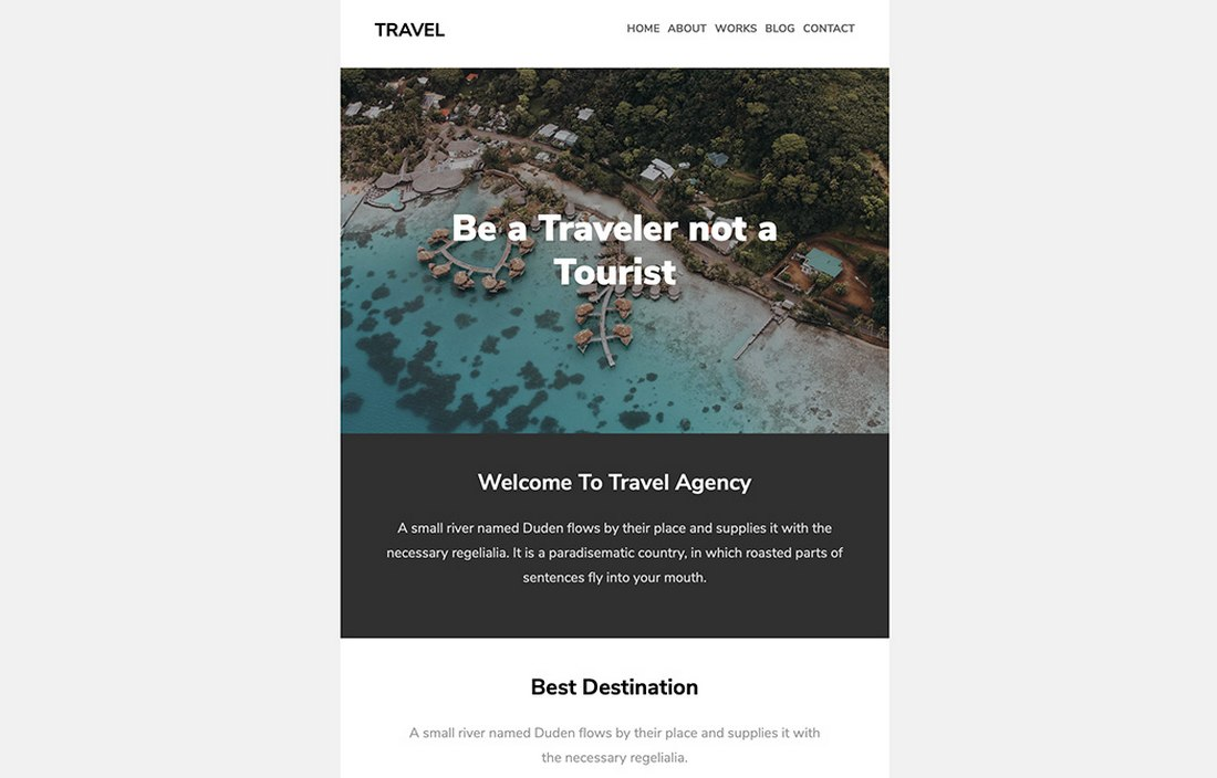 Travel - Free Email Newsletter Template