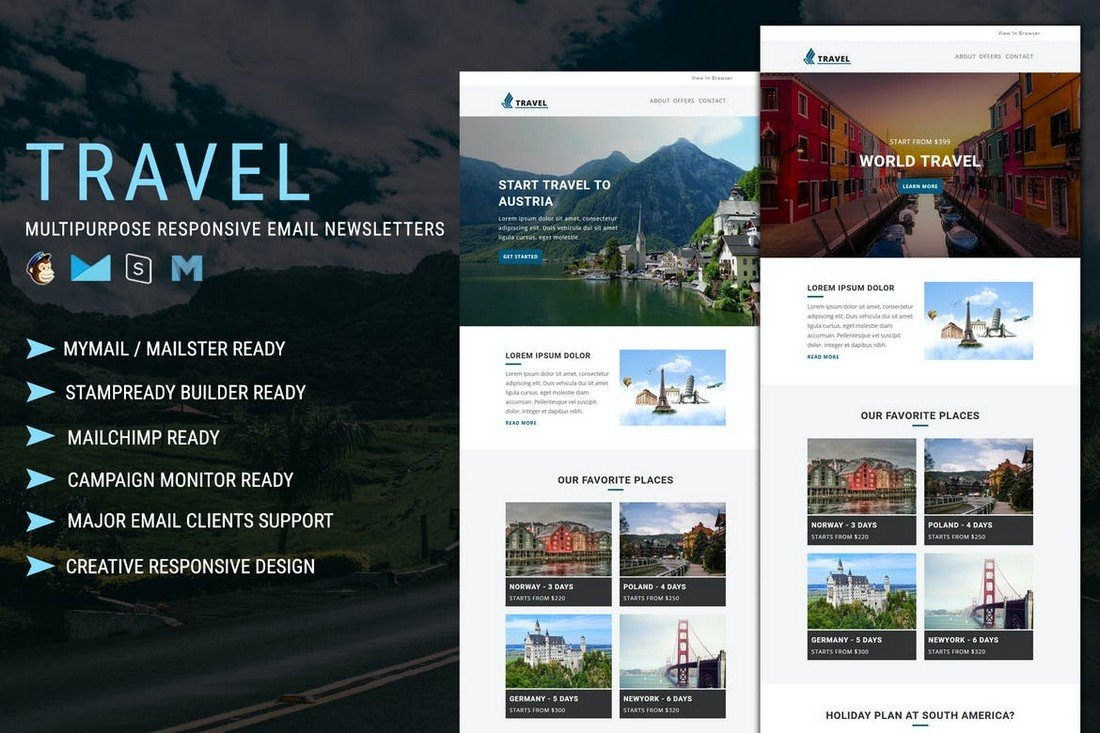 Travel - Responsive MailChimp Email Template