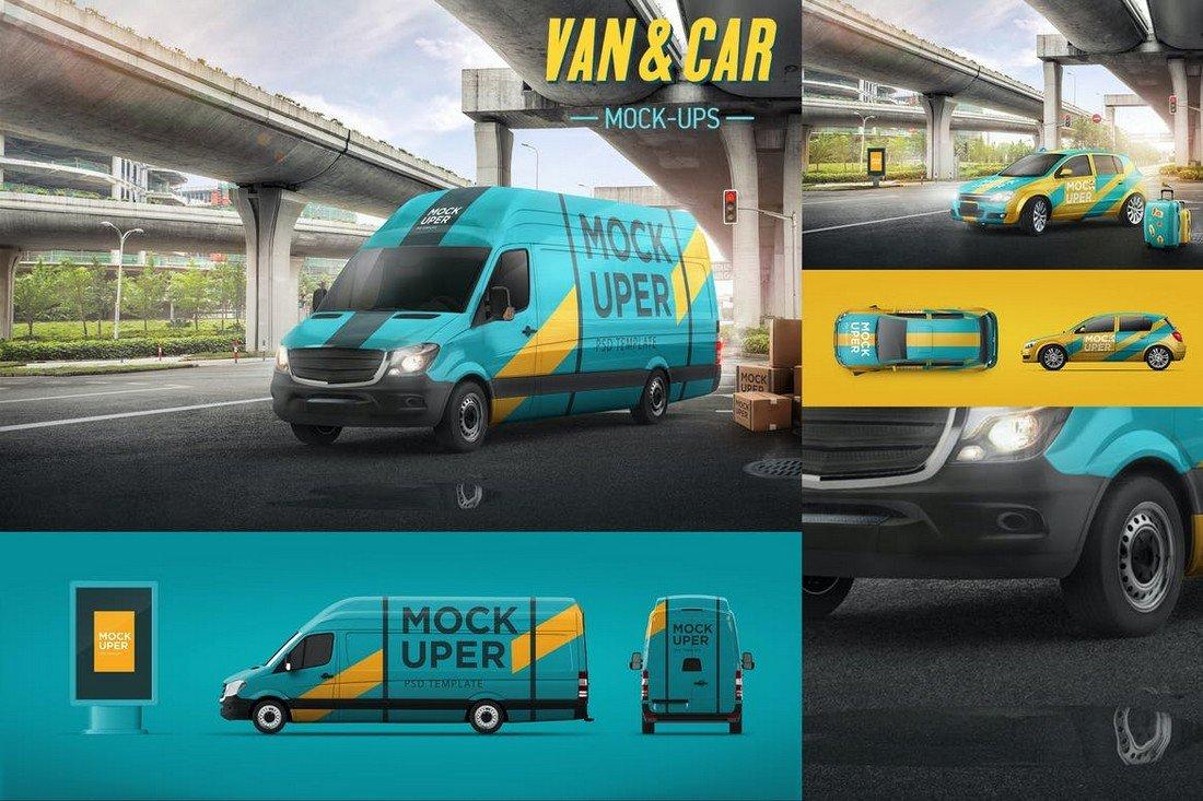Van & Car Mockup Templates
