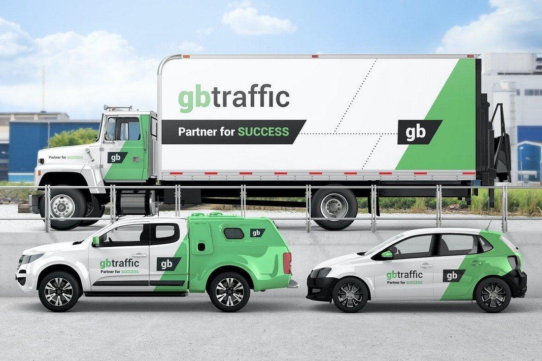 Vehicle Branding Mockup Templates