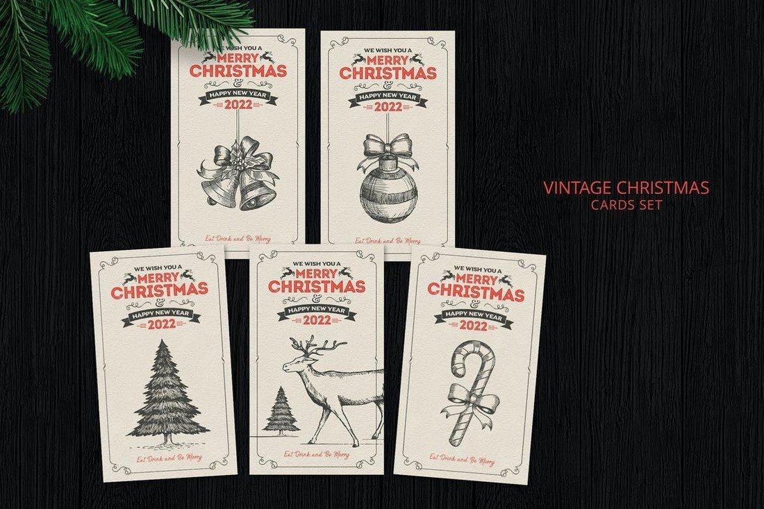 Vintage Christmas Card Templates