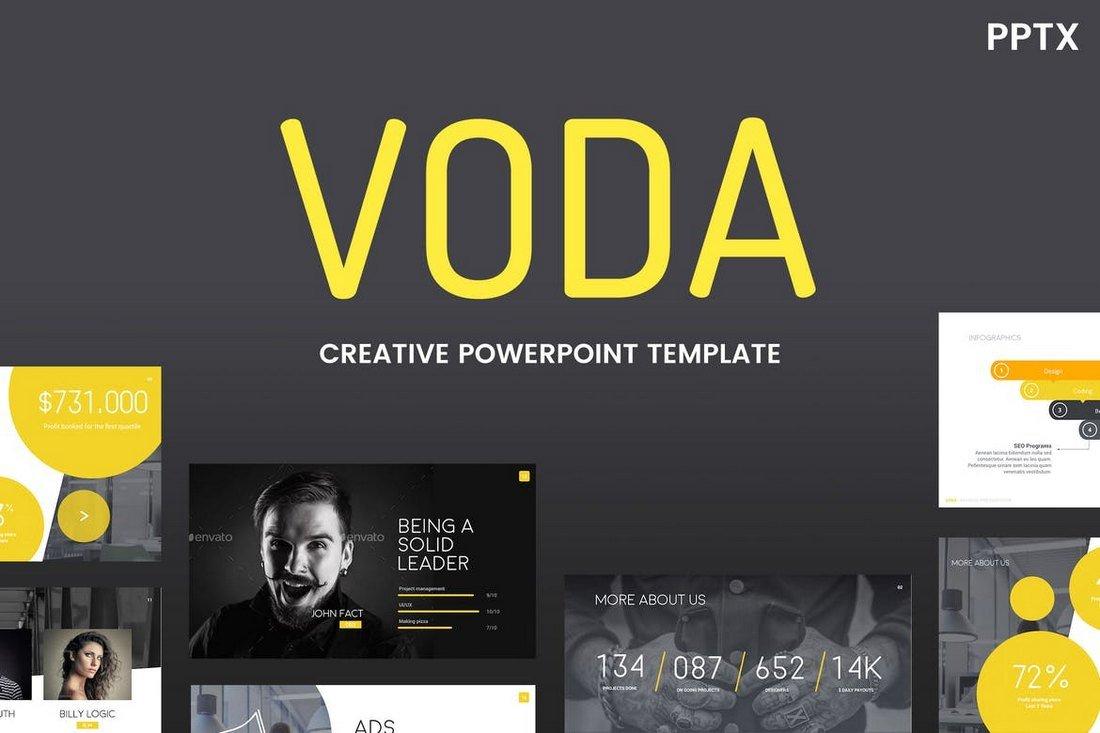 Voda - Creative Cool Powerpoint Template