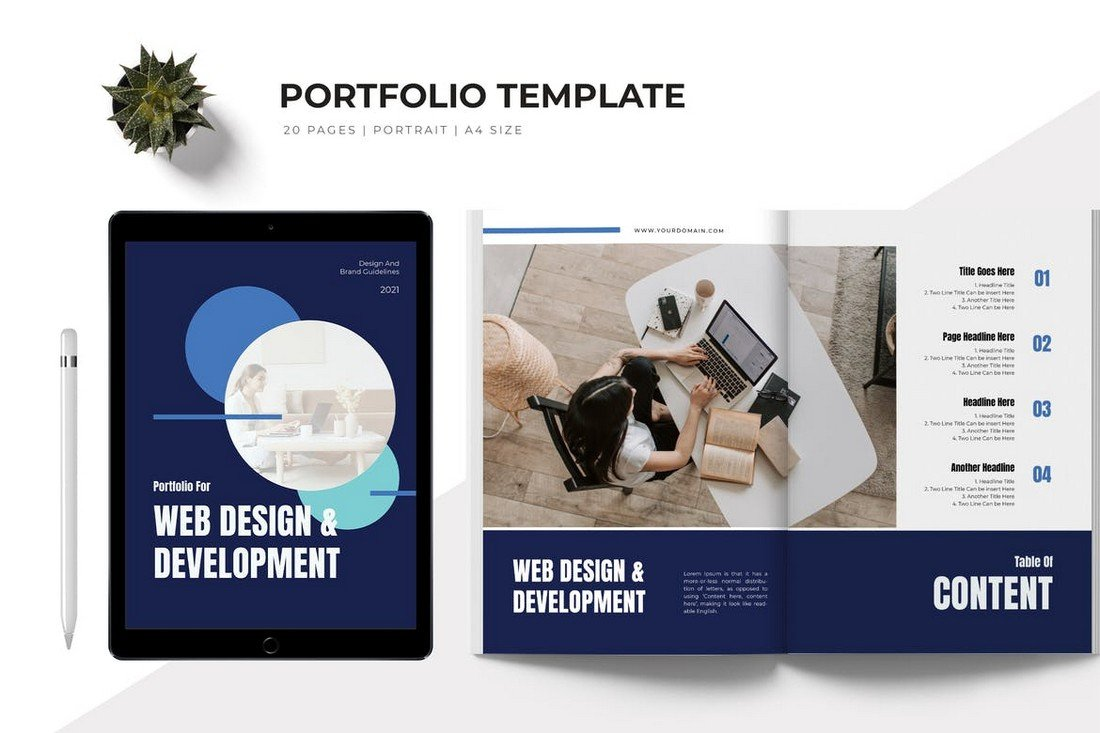 Web Design Portfolio Proposal Word Template