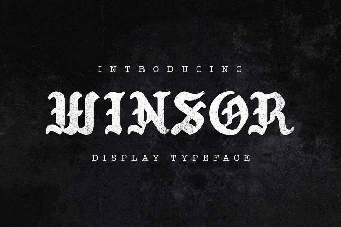 Winsor - Modern Blackletter Typeface