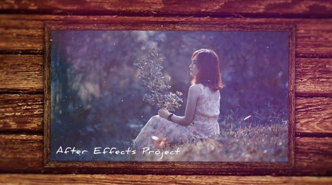 Wooden Frames Slideshow Template for After Effects