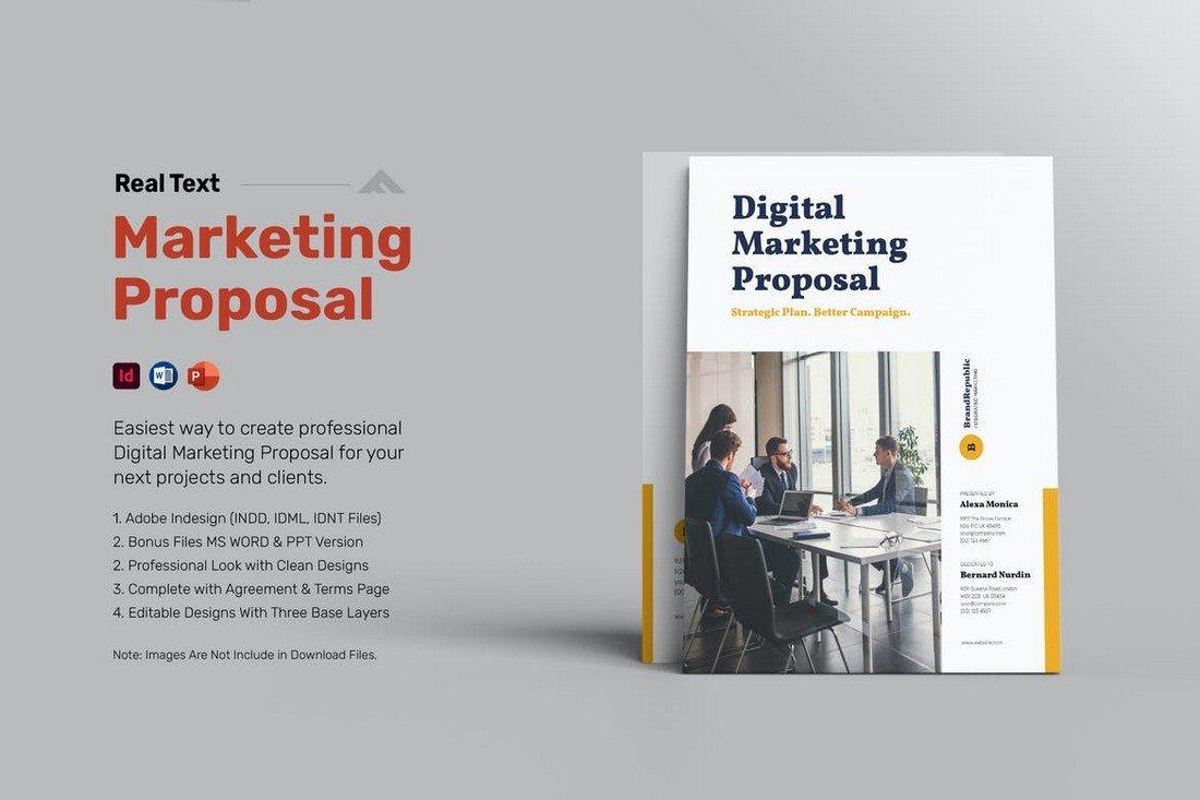 Word Digital Marketing Proposal Template