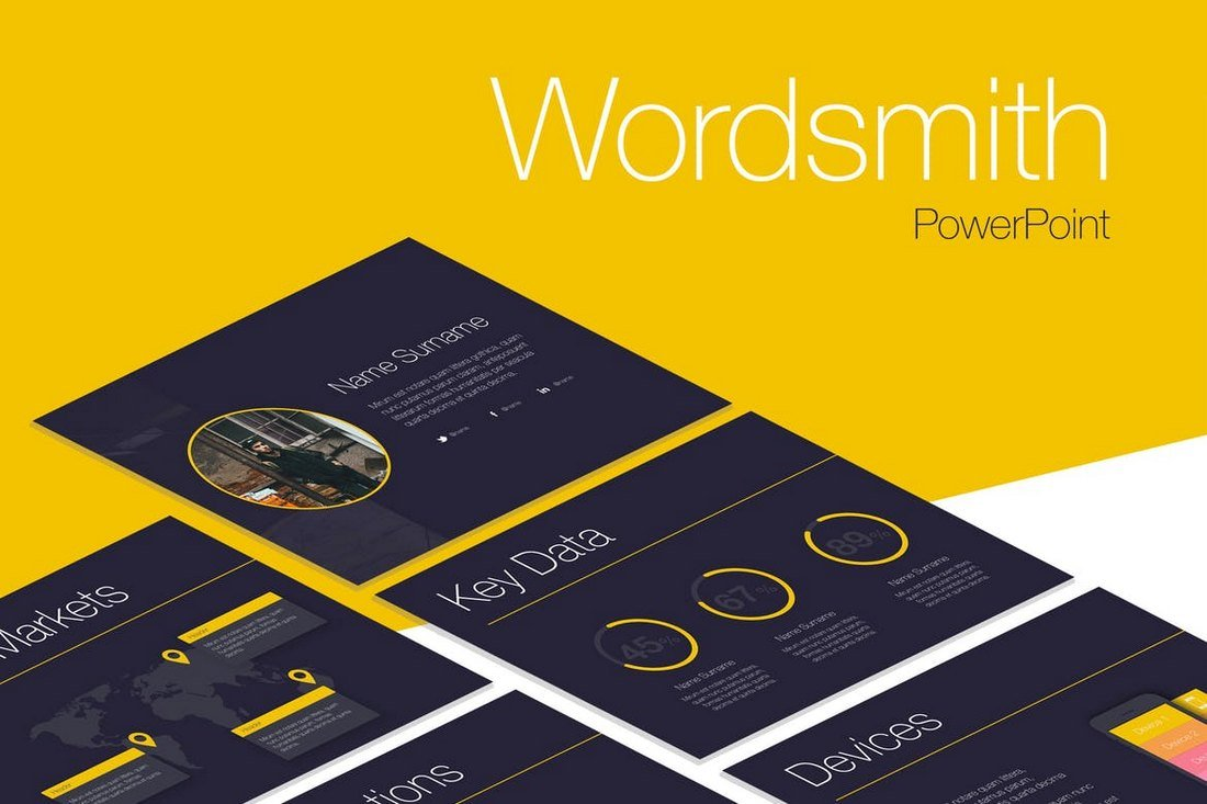 Wordsmith - Cool Creative PowerPoint Template