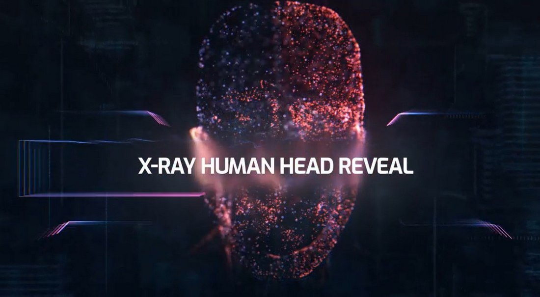 X-Ray Human Head - After Effects Logo Reveal Template