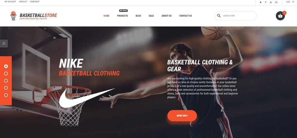 Basketball Responsive Shopify Theme