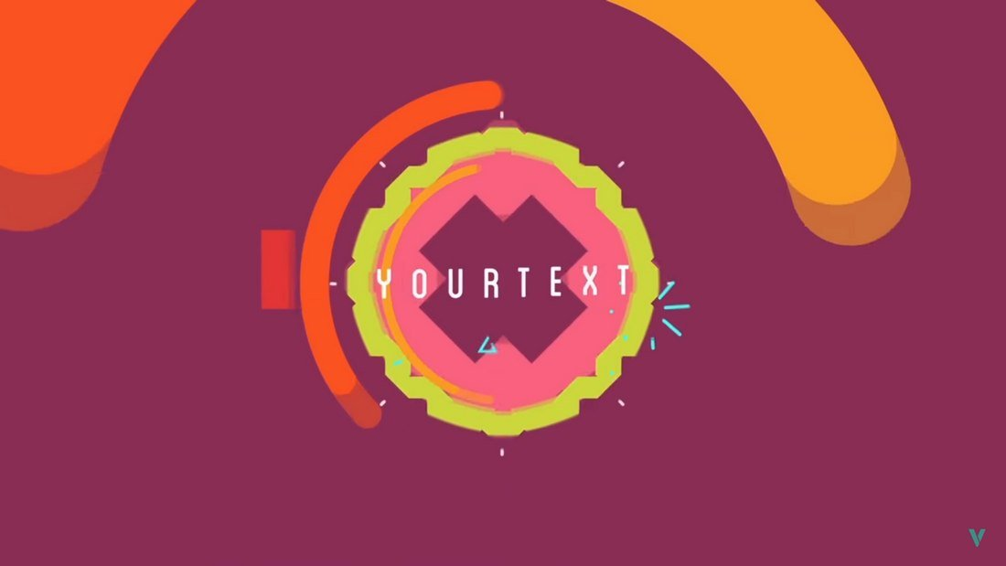 colorful free 2D intro template
