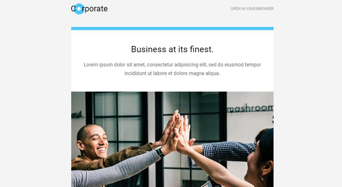 corporate-free-email newsletter template