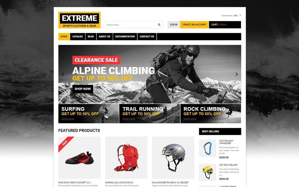 Extreme Sports Responsive Shopify Theme