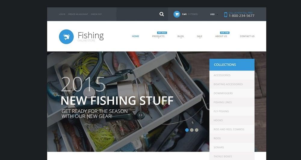 Fishing Supplies Shopify Theme