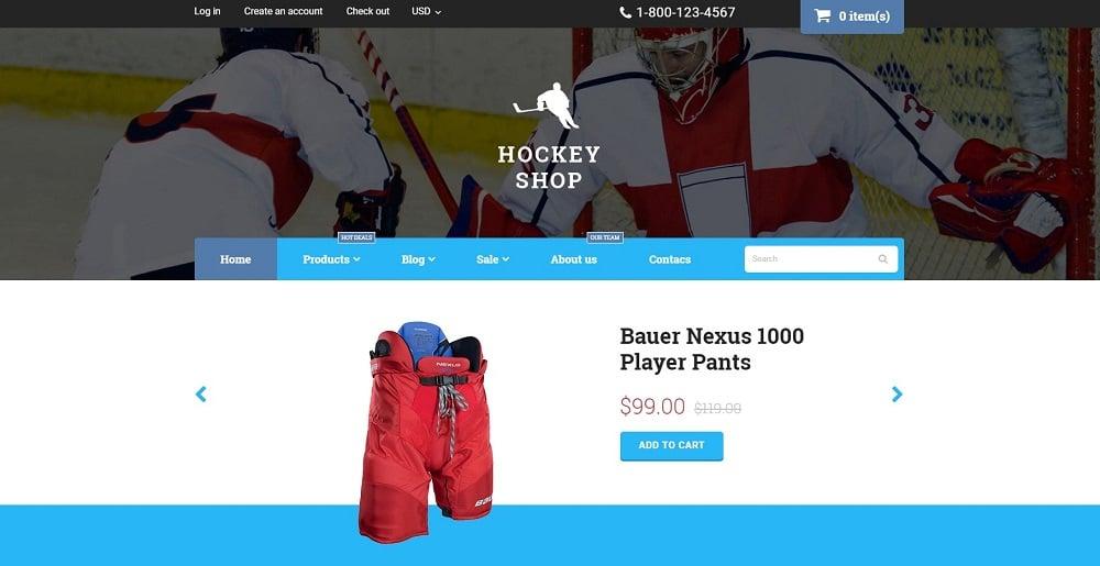 Hockey Shopify Theme