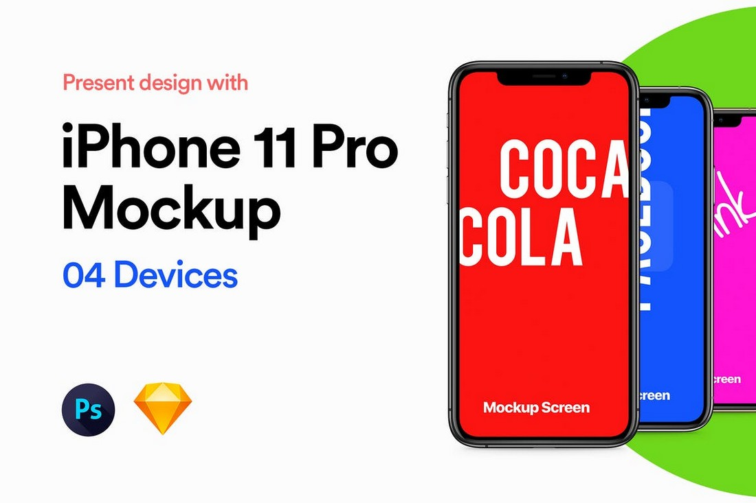 iPhone 11 Pro Mockup for Sketch