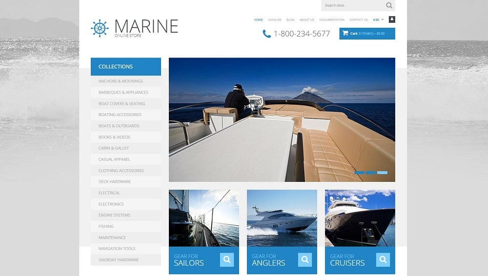Yachting Responsive Shopify Theme