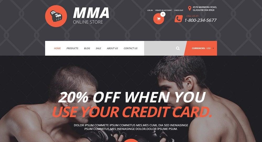 MMA Shopify Theme