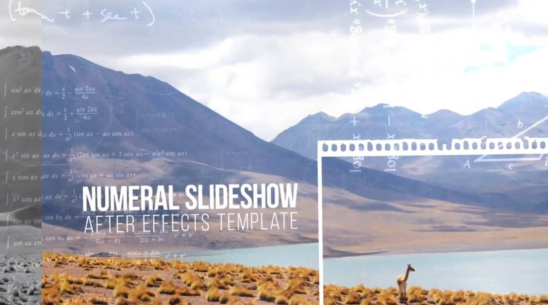 numeral slideshow-adobe-after-effects-template