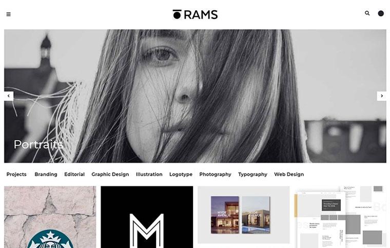 RAMS - Portfolio and Art Gallery WordPress Theme.