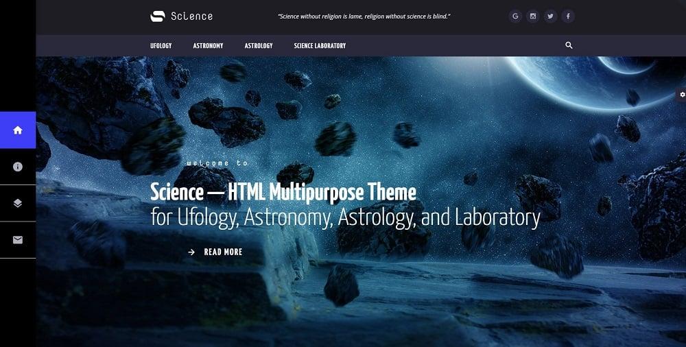 Science - Multipurpose HTML5 Website Template