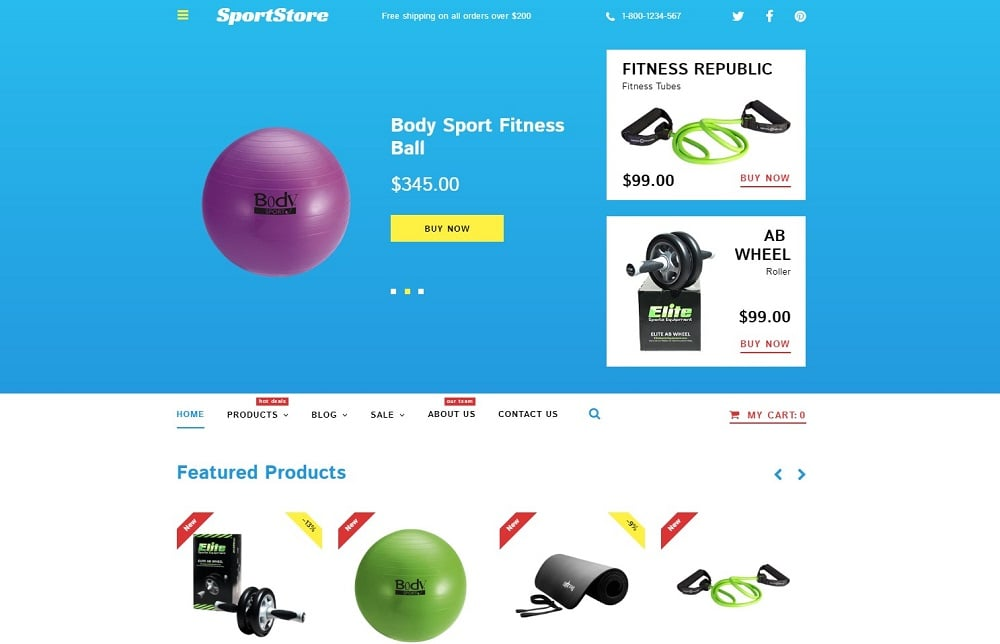 Sport Store Shopify Theme