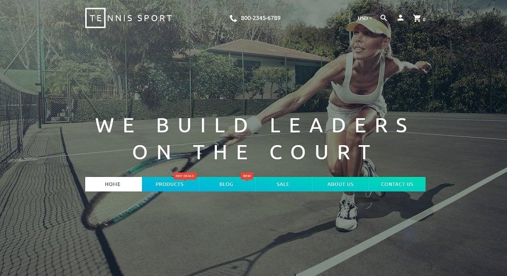 Tennis Sport - Sport Clothes & Tennis Supplies Shopify Theme