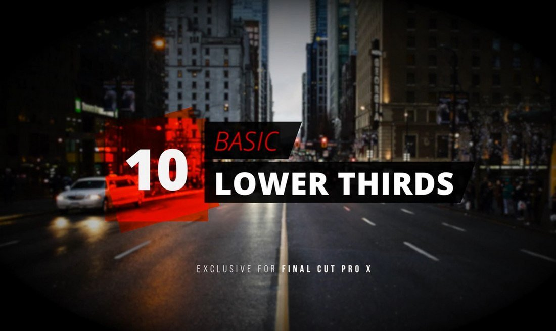 10 Basic Lower Thirds - Free Final Cut Pro Templates