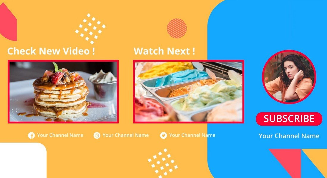 5 YouTube End Screens After Effects Templates
