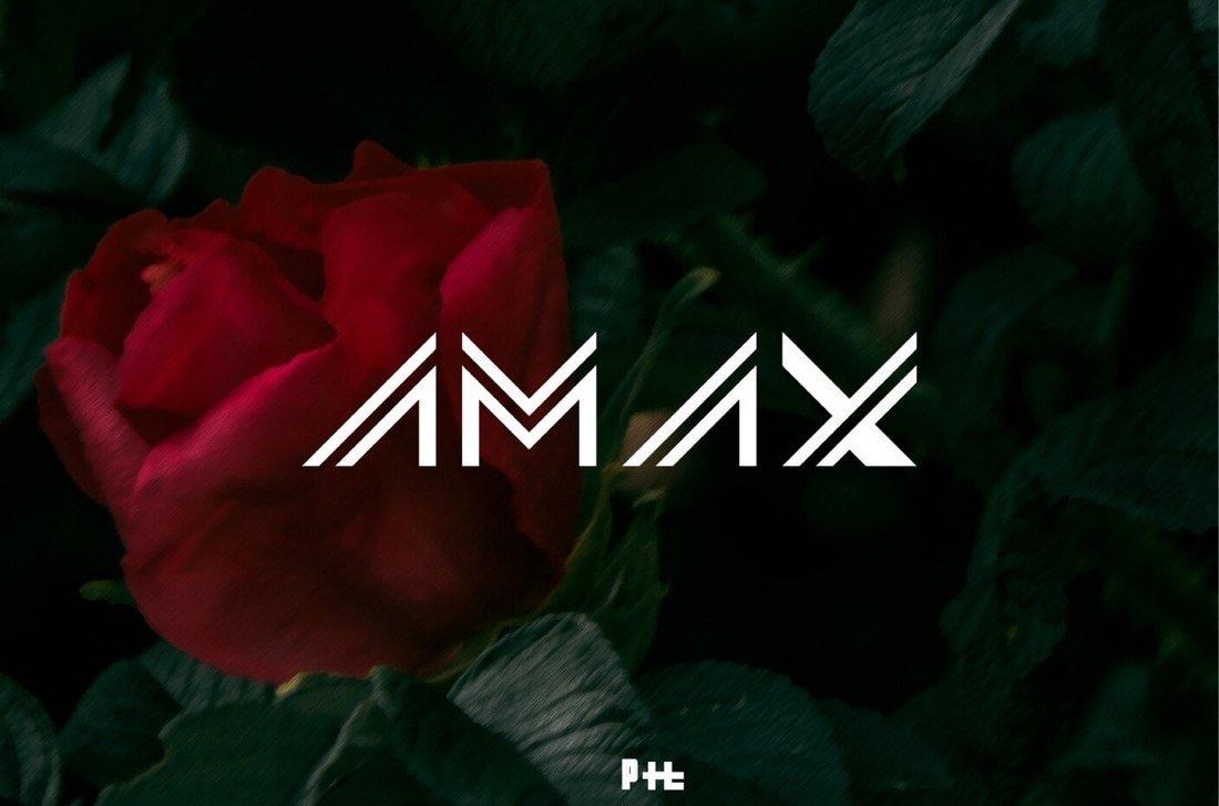 AMAX - Free Futuristic Font