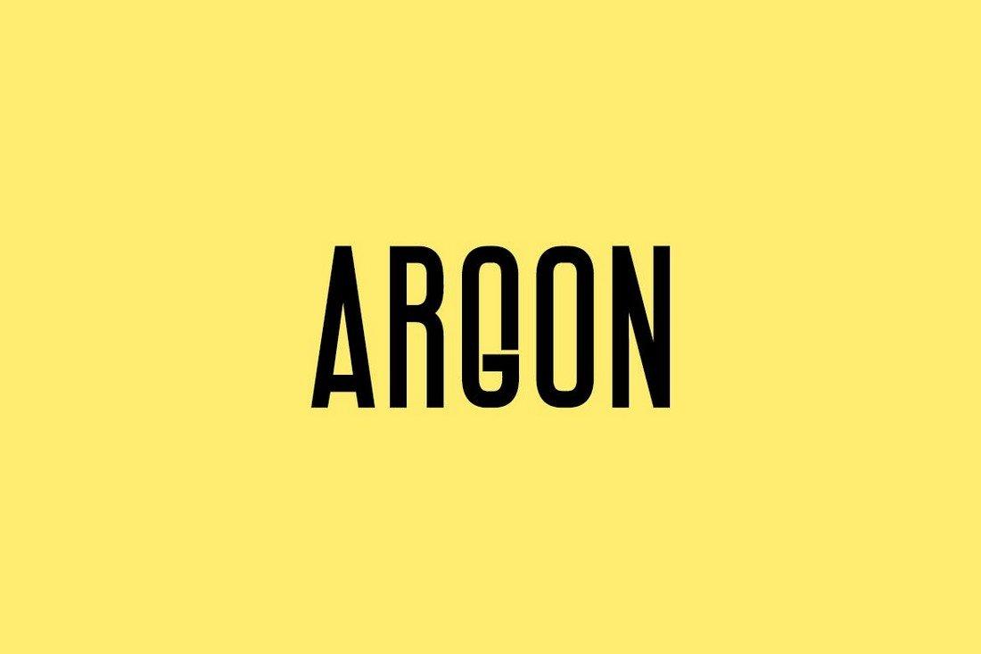 ARGON - Unique Narrow Display Font