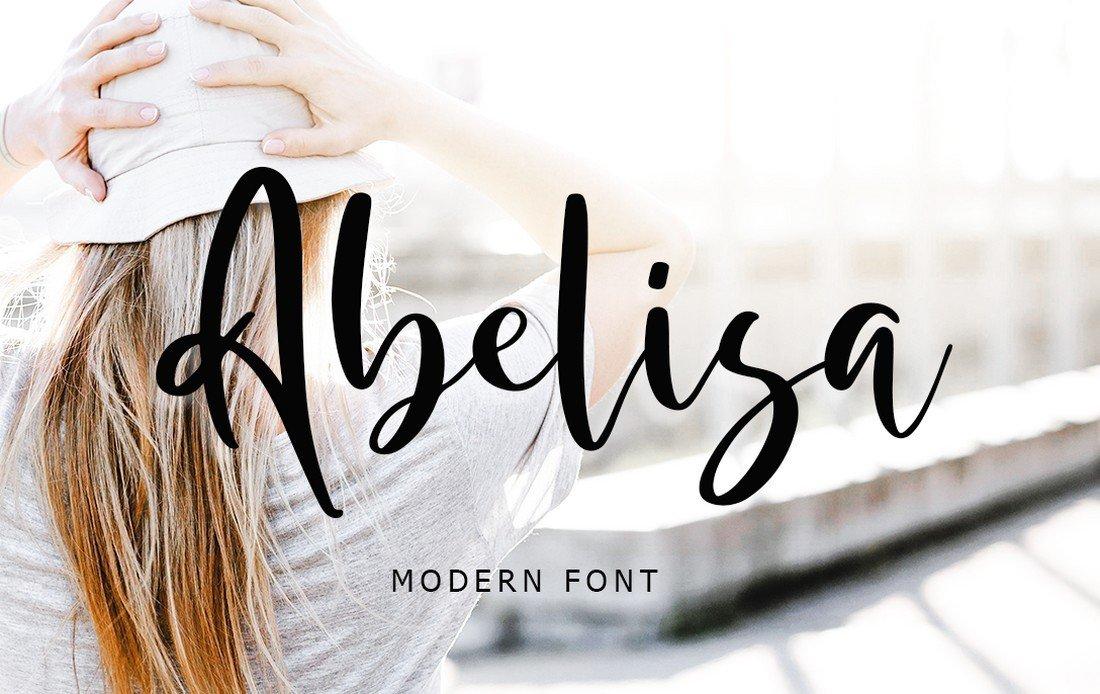Abelisa - Free Modern Script Font