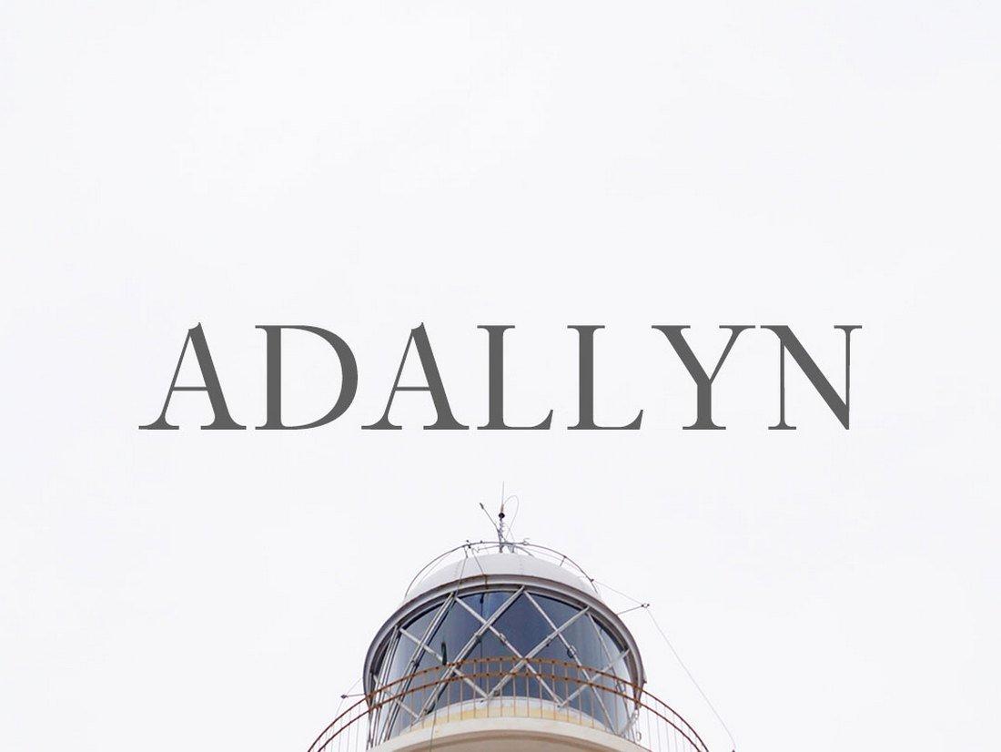 Adallyn - Free Serif Font