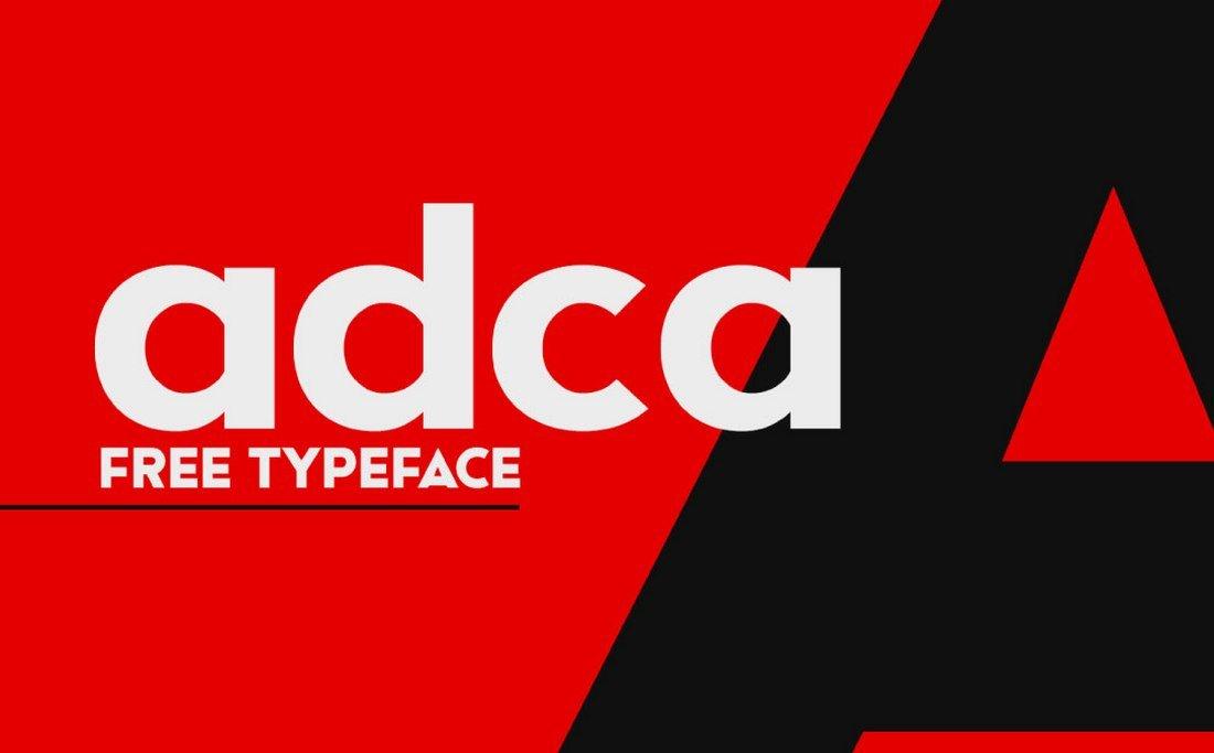 Adca - Free Bold Geometric Font