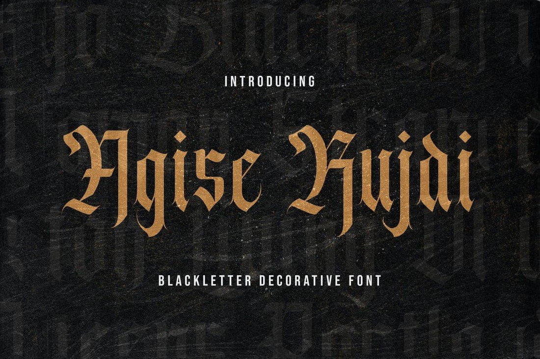 Agise Rujdi - Blackletter Gothic Font