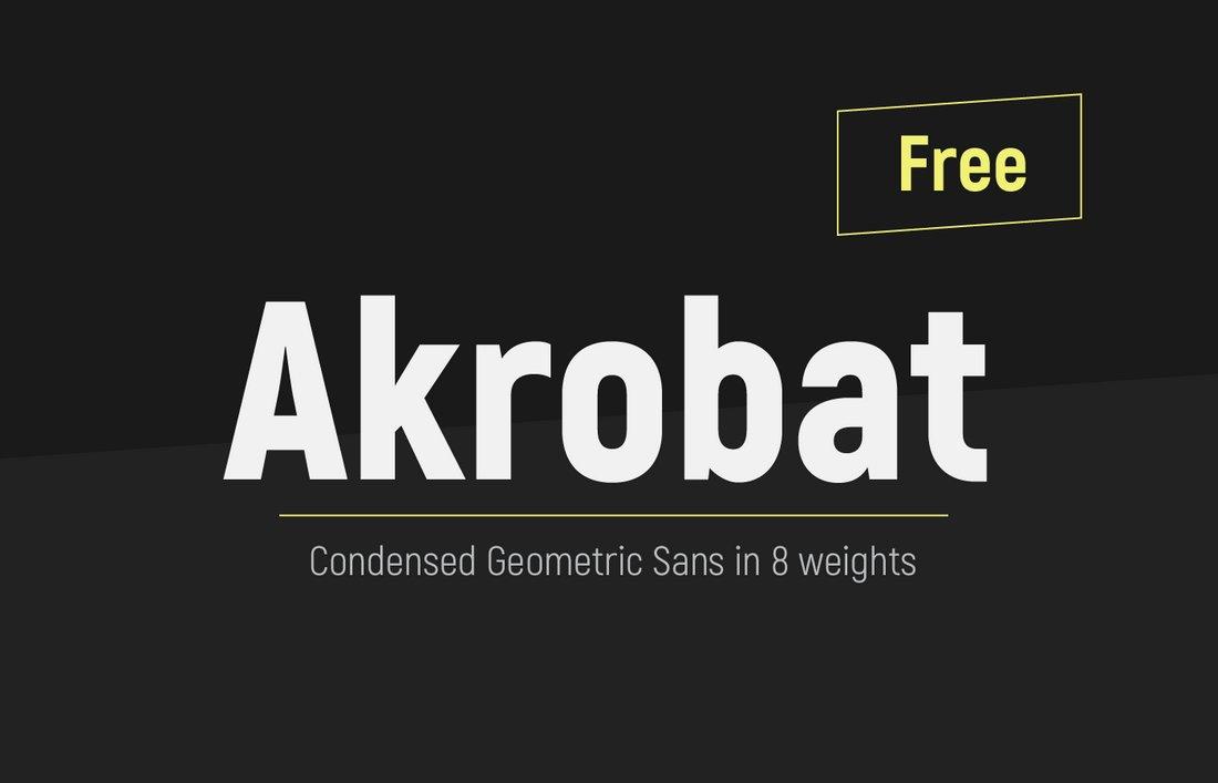 Akrobat - Free Geometric Condensed Font