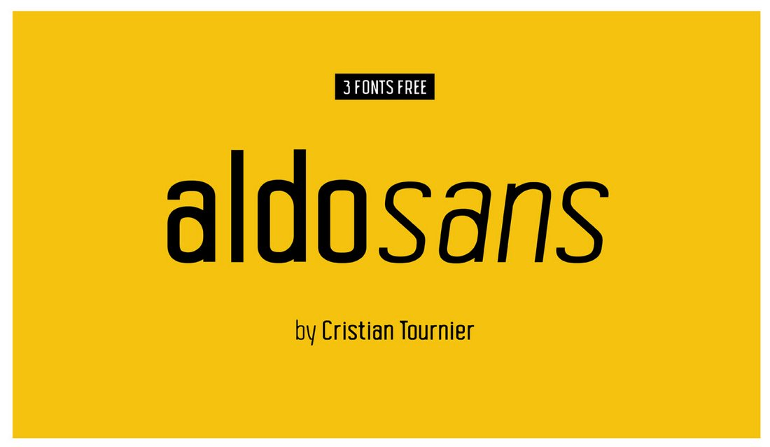 Aldo Sans - Free Modern Condensed Font