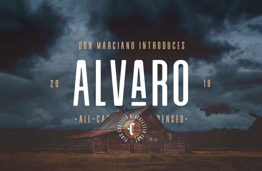 Alvaro - Free Condensed Sans Serif Font