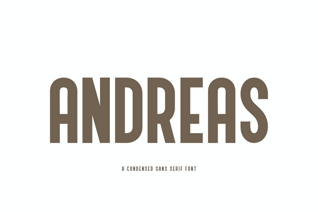 Andreas - Condensed Rounded Font
