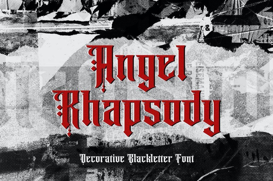 Angel Rhapsody - Blackletter Gothic Font