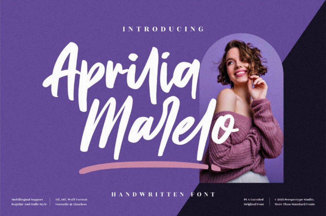 Aprilia Marelo - Free Handwritten Font