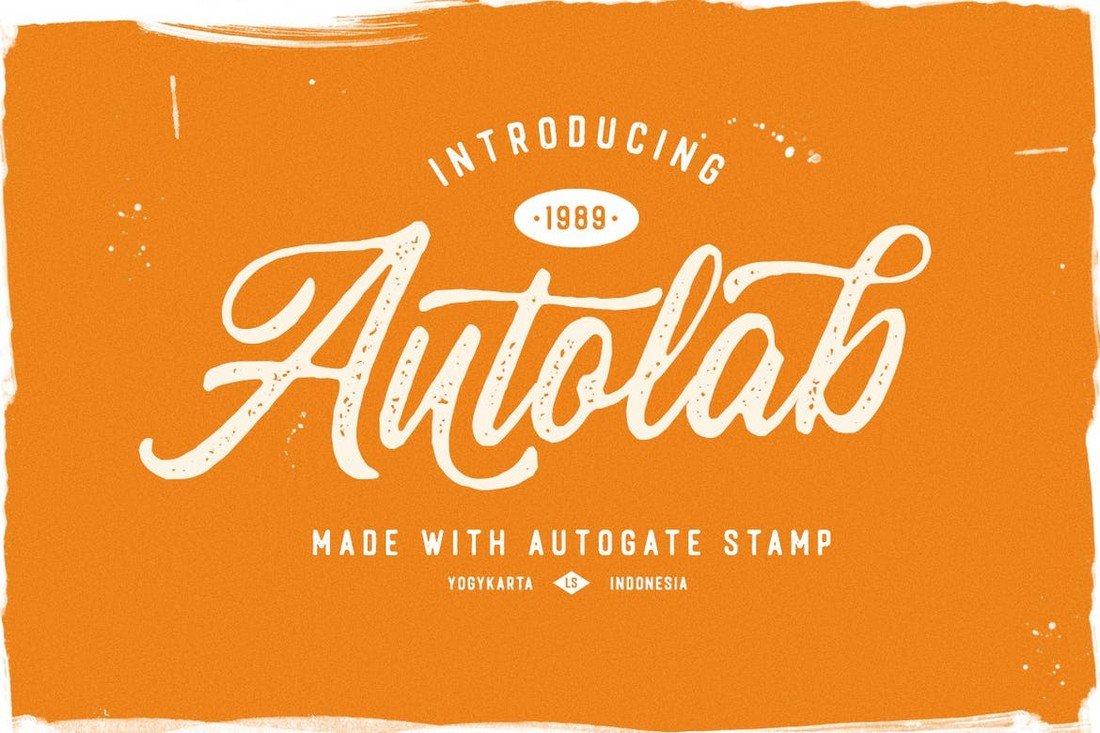 Autogate - Rustic Cursive Font