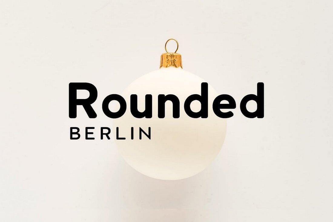 BERLIN Rounded - Sans Serif Font