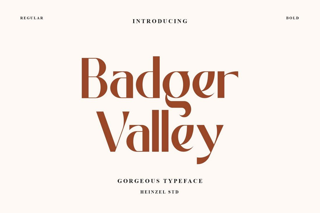 Badger Valley - Free Narrow Font