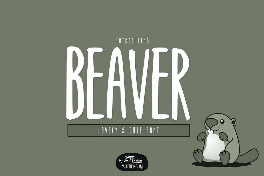 Beaver Font - Creative Narrow Font