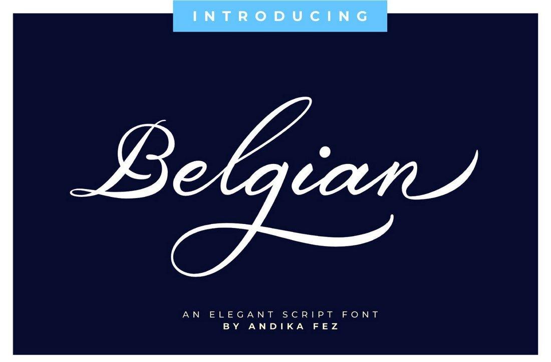Belgian Signature - Free Elegant Script Font
