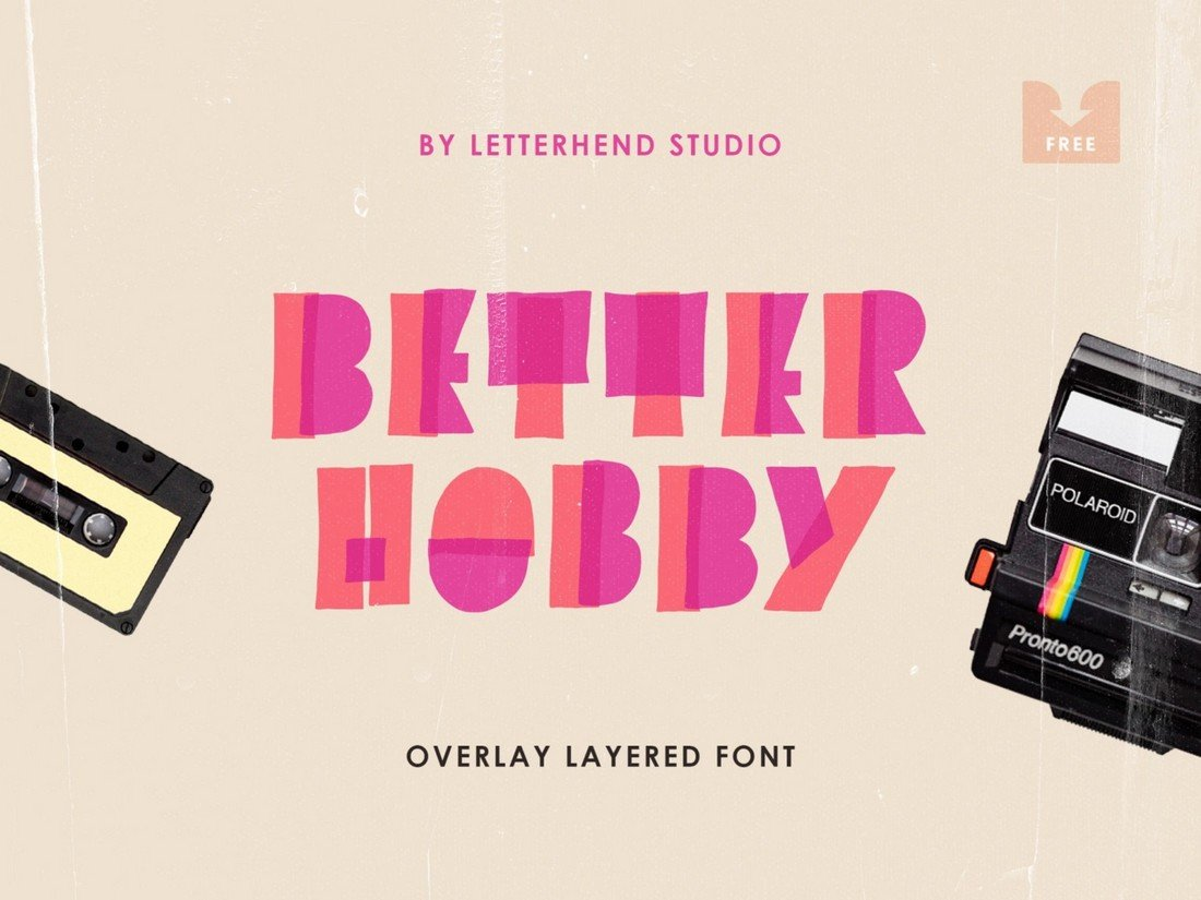 Better Hobby - Free Display Font