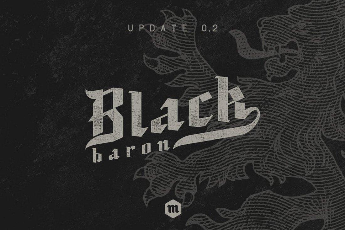 Black Baron Gothic Font