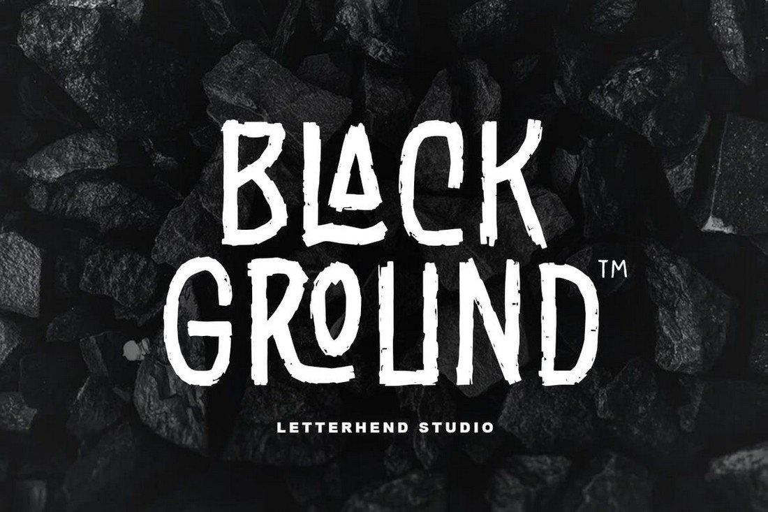 Black Ground - Creative Rustic Font