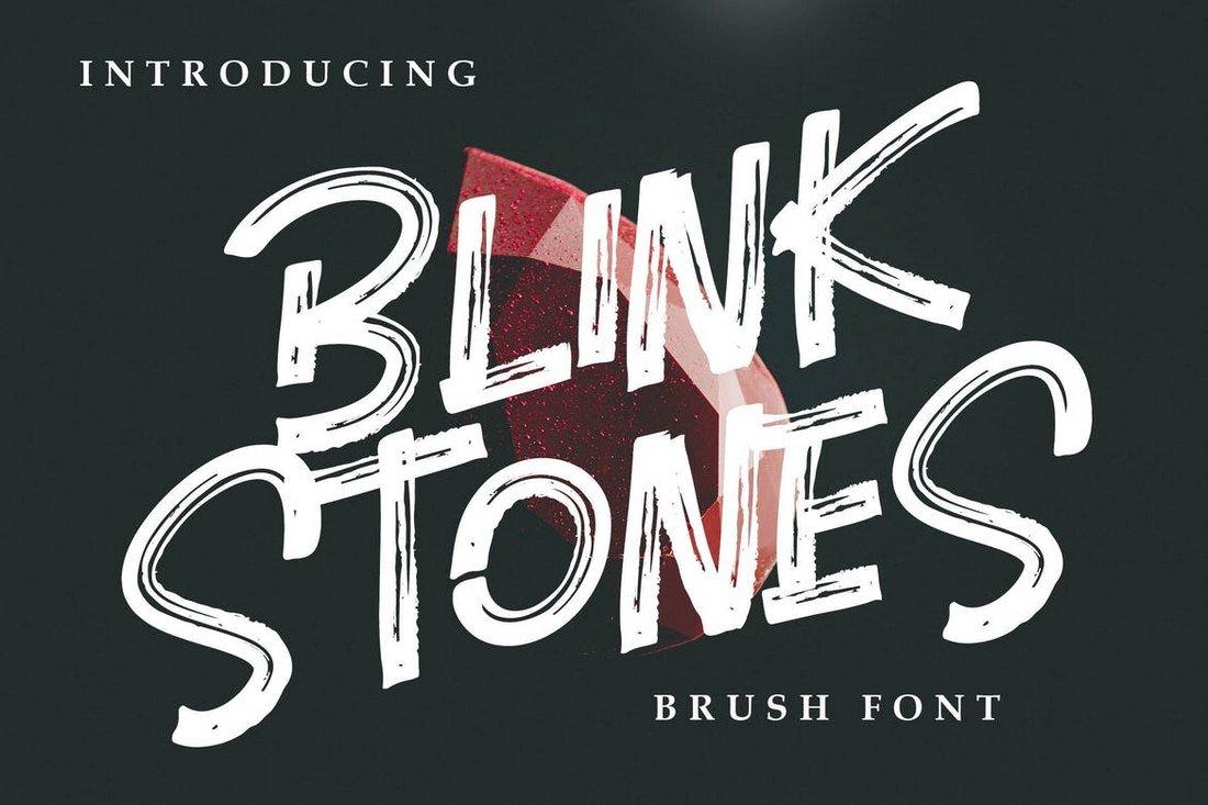 Blink Stones - Creative Brush Font